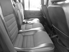 Rear seating layout. Comfy half leather seats.